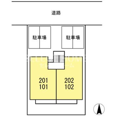 【区画図】メゾン天野 A棟