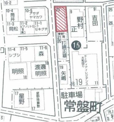 【地図】常盤町売土地