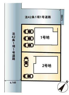 【区画図】大津市日吉台2丁目9-7 新築分譲