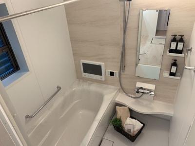 お風呂で日々の疲れを落としましょう。充実設備のお風呂です。