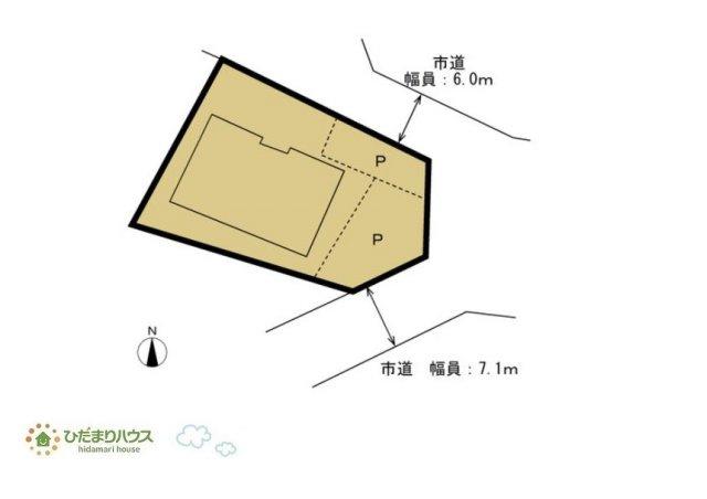 【区画図】水戸市米沢町 中古戸建