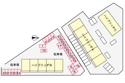 【区画図】ハイブリッヂB