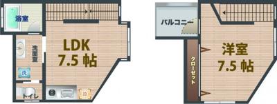 【寝室】グランエッグス高円寺E
