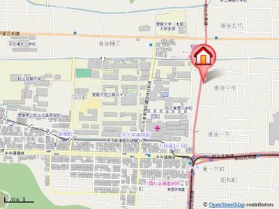 【地図】ジョイフル第3今市