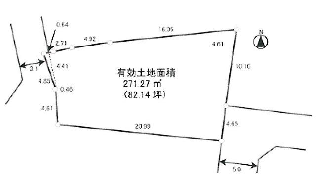 【土地図】城山町4丁目建築条件無売地