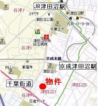 【地図】エル津田沼