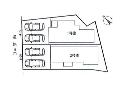 【区画図】SANKEN 名古屋市天白区中平第2期【仲介手数料無料】原小学校・原中学校 全新築一戸建て
