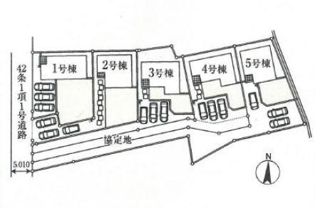【区画図】高崎市綿貫町 1号棟