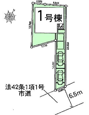 【区画図】鴻巣市本町8丁目 新築一戸建て全1棟