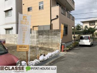 【前面道路含む現地写真】城陽市平川古宮 売土地 建築条件無し