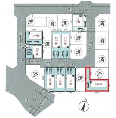 【区画図】神戸市垂水区青山台5丁目 6号棟 新築戸建