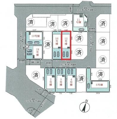【区画図】神戸市垂水区青山台5丁目 15号棟 新築戸建