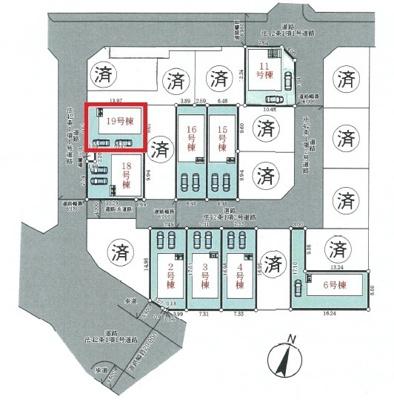 【区画図】神戸市垂水区青山台5丁目 19号棟 新築戸建