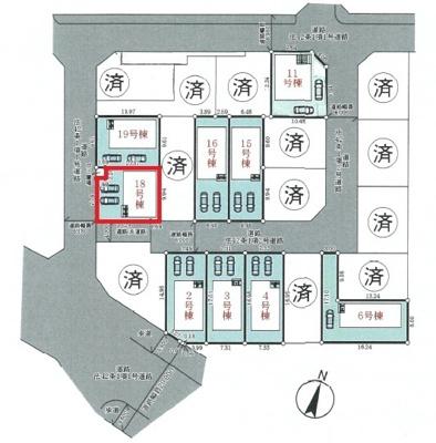 【区画図】神戸市垂水区青山台5丁目 18号棟 新築戸建