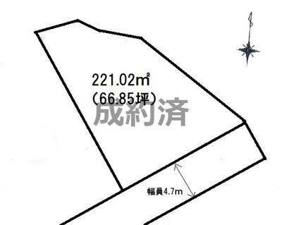 前面道路は4.7mです。
