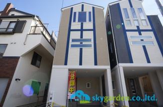 【前面道路含む現地写真】平塚市夕陽ケ丘 新築戸建 全2棟1号棟