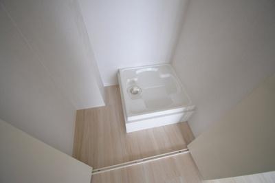 洗濯機置場はこのようになっております。
