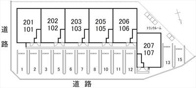 【区画図】INTEGRL粟島(富山市中島)