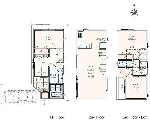 居室収納の他、ロフトもあり収納たっぷりのお住まいです。