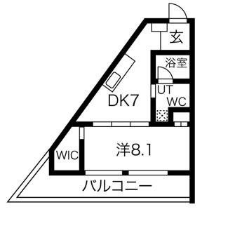 1DK・角部屋