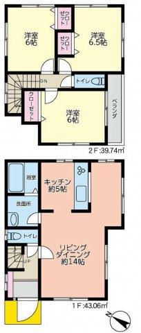 全居室2面採光、6帖以上のゆとりある3LDK