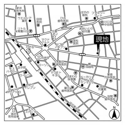 【地図】アクシーズグランデ蕨Ⅲ