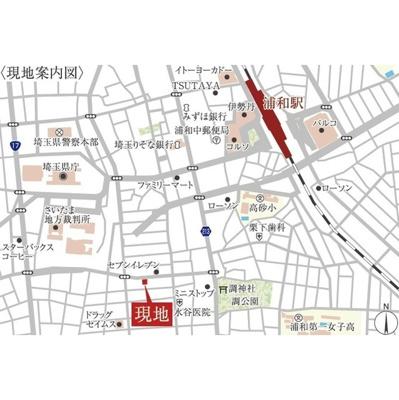 【地図】アクシーズタワー浦和岸町Ⅲ