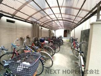 屋根付き駐輪場です♪大切な自転車を守ってくれます!