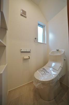 【トイレ】ビルトインガレージ付住宅!保土ヶ谷区仏向町 新築戸建て