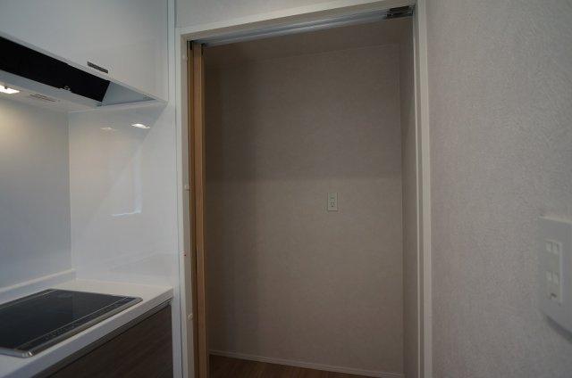 キッチン家電収納スペース
