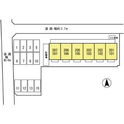 【区画図】ラ・フルール西高松