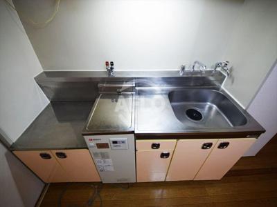 桜川コーポ  キッチン(2口ガスコンロ設置可)