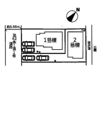 【区画図】三木市緑が丘町西7期 1号棟