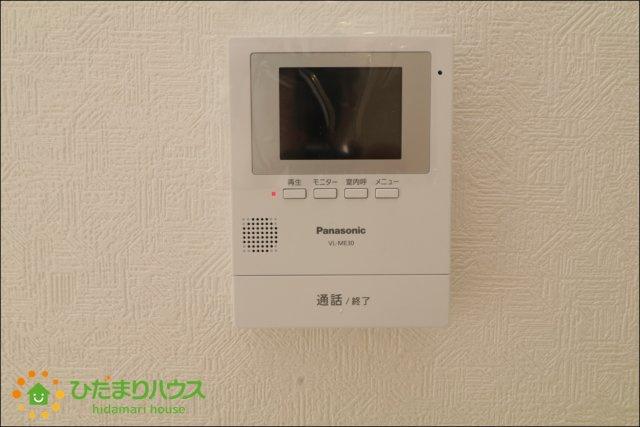 TVモニタ付きのインターホンが家族を守ります。