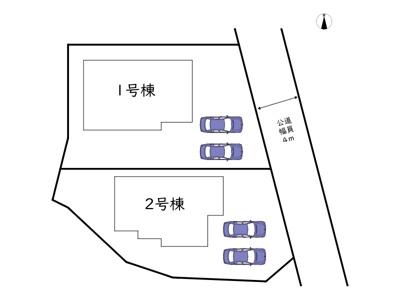 【区画図】姫路市岩端町 第1/全2棟