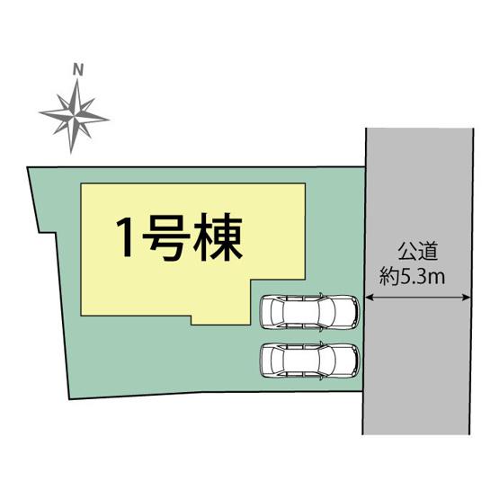 【区画図】前橋市若宮町 新築物件 長期優良住宅認定