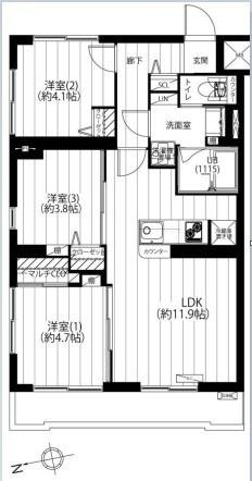 専有面積56.49平米 新規リノベーション済み♪ 家具エアコン付きのペット可マンション! アフターサービス保証付きで安心です♪