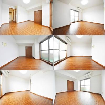 洋室、ブラウン調のフロアタイル仕様でしっかりしてます。