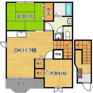 【間取り】《2002年築木造》福岡県中間市土手ノ内1丁目一棟アパート