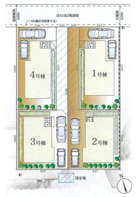【区画図】藤沢市辻堂東海岸4丁目 新築1号棟