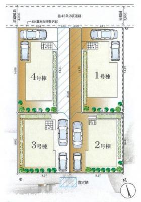 【区画図】藤沢市辻堂東海岸4丁目 新築2号棟
