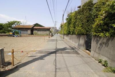 【前面道路含む現地写真】藤沢市辻堂東海岸4丁目 新築3号棟