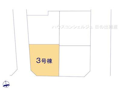 【区画図】名古屋市中川区長須賀2丁目2108【仲介手数料無料】新築一戸建て 3号棟