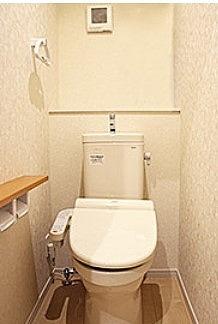 節水型のシャワー付きトイレ