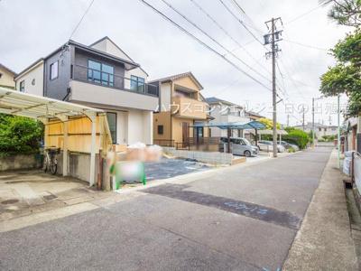 【前面道路含む現地写真】名古屋市名東区平和が丘4丁目206 新築一戸建て