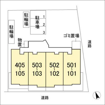 【区画図】リヴィエール Ⅰ