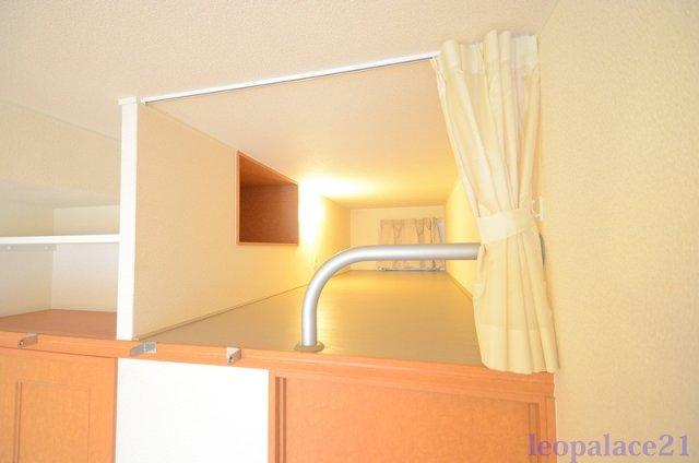 広いロフトは収納にも寝室にもなります