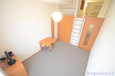 ロフトタイプは天井が高く、開放感があります。