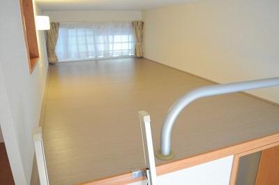 ロフトは大型収納、寝室としても。