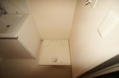 室内洗濯機置き場♪